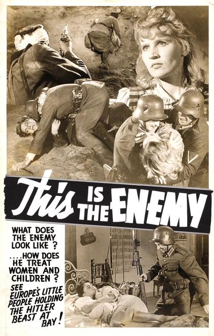This Is The Enemy Poster Art 1942. Movie Poster Masterprint - Item # VAREVCMCDTHISEC012H