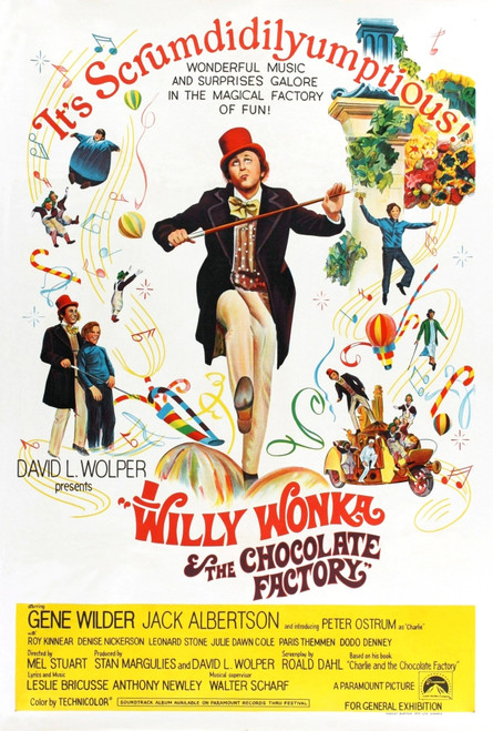 Willy Wonka And The Chocolate Factory Movie Poster Masterprint - Item # VAREVCMCDWIWOEC025
