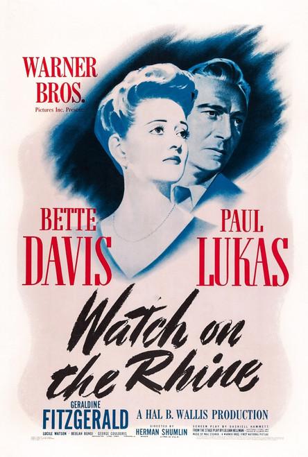Watch On The Rhine Us Poster Art From Left: Bette Davis Paul Lukas 1943 Movie Poster Masterprint - Item # VAREVCM2DWAONEC001H
