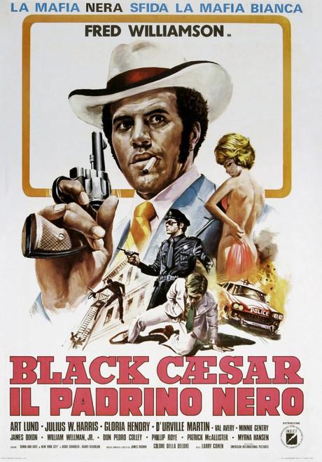 Black Caesar Italian Poster Fred Williamson 1973. Movie Poster Masterprint - Item # VAREVCMMDBLCAEC007H