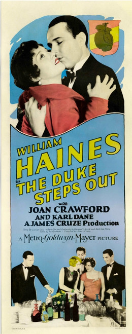 The Duke Steps Out Top From Left: Joan Crawford William Haines Bottom Second From Left: Gwen Lee Delmer Daves Joan Crawford Eddie Nugent On Insert Poster 1929. Movie Poster Masterprint - Item # VAREVCMCDDUSTEC010H