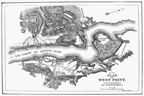 Plan Of West Point, 1780. /N19Th Century Copy Of A Map
