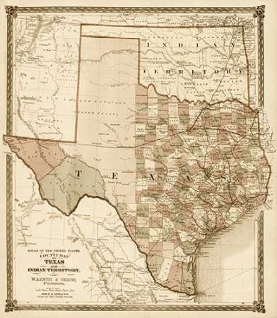 County Map of Texas, and Indian Territory, 1874 - Decorative Sepia on indians iowa map, indians new york map, indians in tennessee, indians in north carolina, indians utah map, indians of central texas, indians in texas history, indians in idaho, indians in washington state, indians in pennsylvania, indians ohio map, indians in rhode island, indians in south carolina, tonkawa indians map, indians in north dakota, indians in wisconsin,