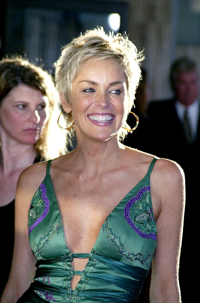 Posterazzi Actress Sharon Stone At The Premiere Of Catwoman