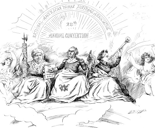 Women'S Rights Cartoon. /N'The Apotheosis Of Liberty