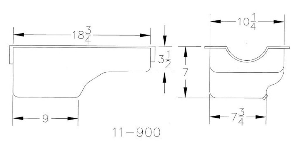 11-900 Ford 2300CC Stock Appearing Rear Sump Circle Track Pan