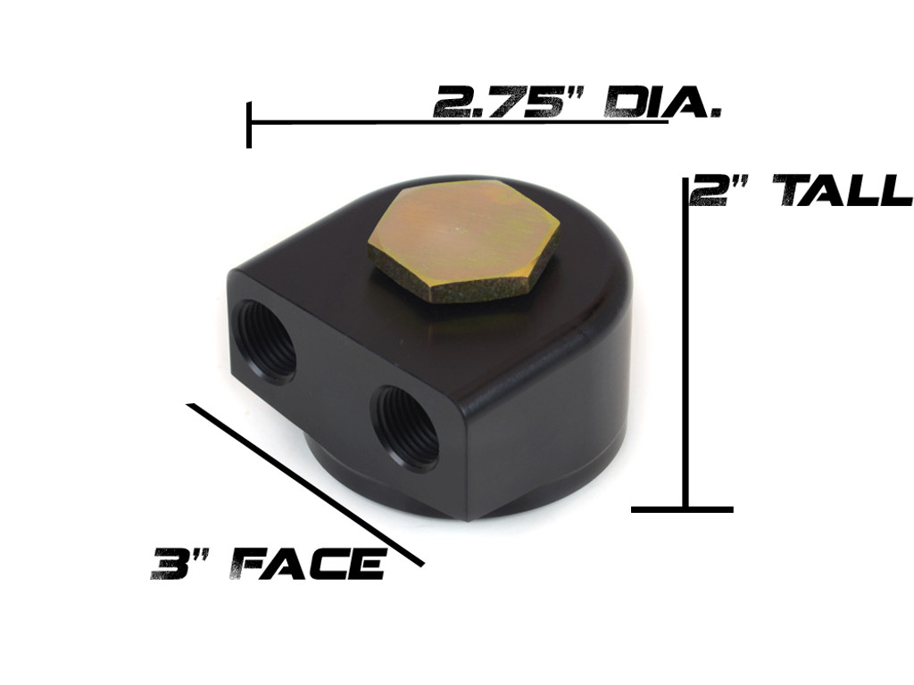 Canton 22-595 Remote Oil Filter Adapter Product Dimensions