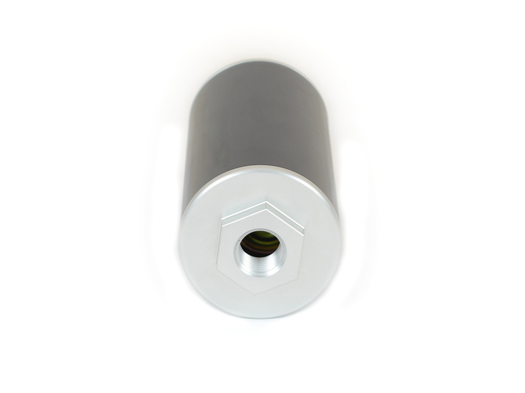 "25-101 Billet Aluminum CM Oil Filter 6"" Inline 1/2"" NPT Ports"