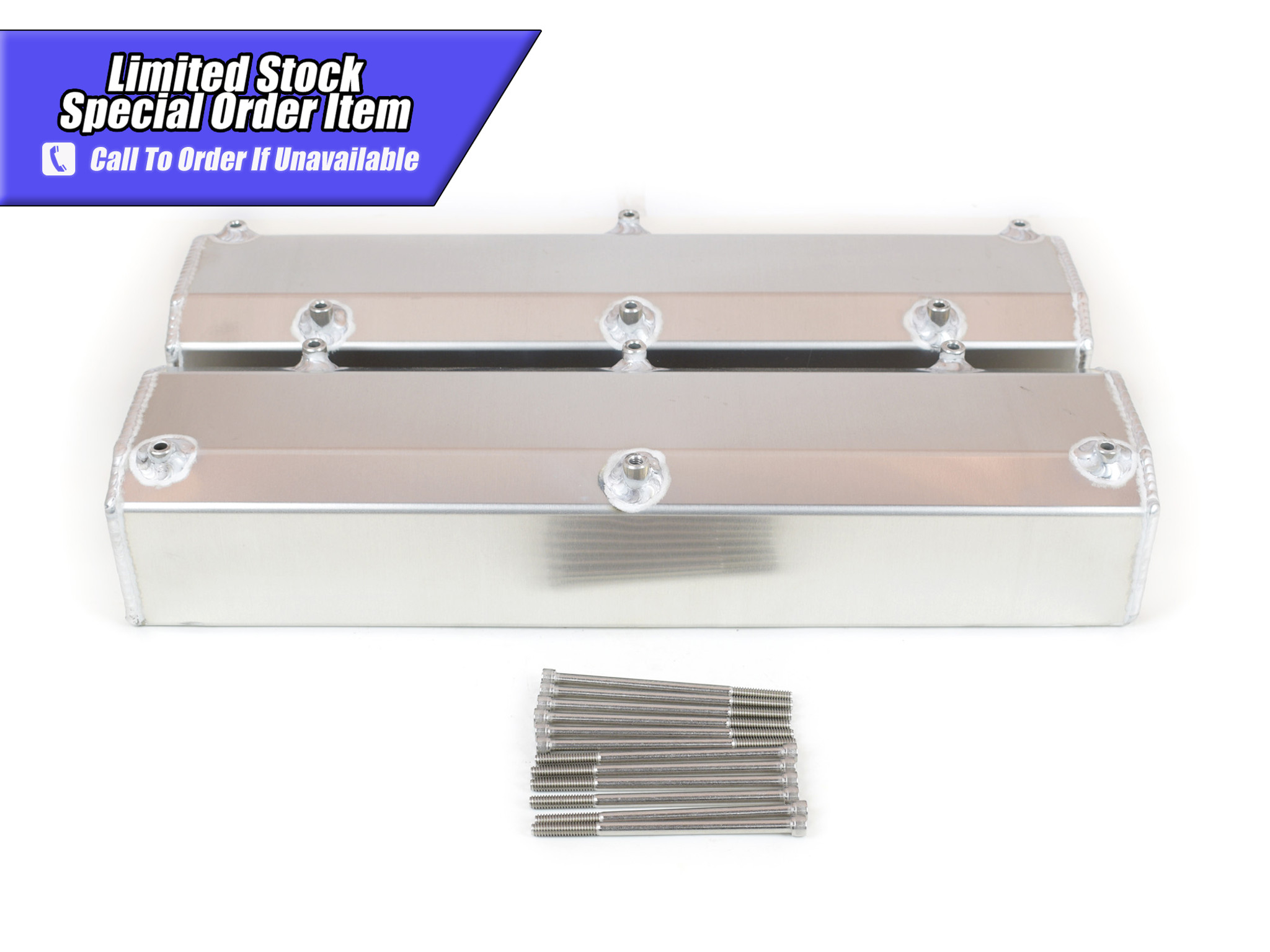 Ford 302 351w 5.0 Sbf Tall Fabricated Valve Covers  New