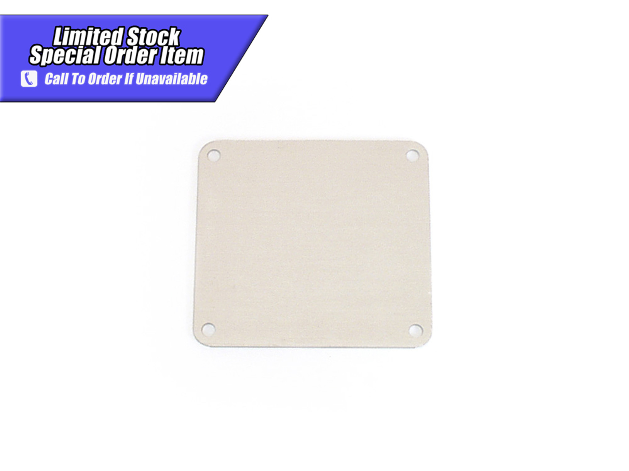 84-150 Aluminum Intake Manifold Block Off Plate For Holley 4150