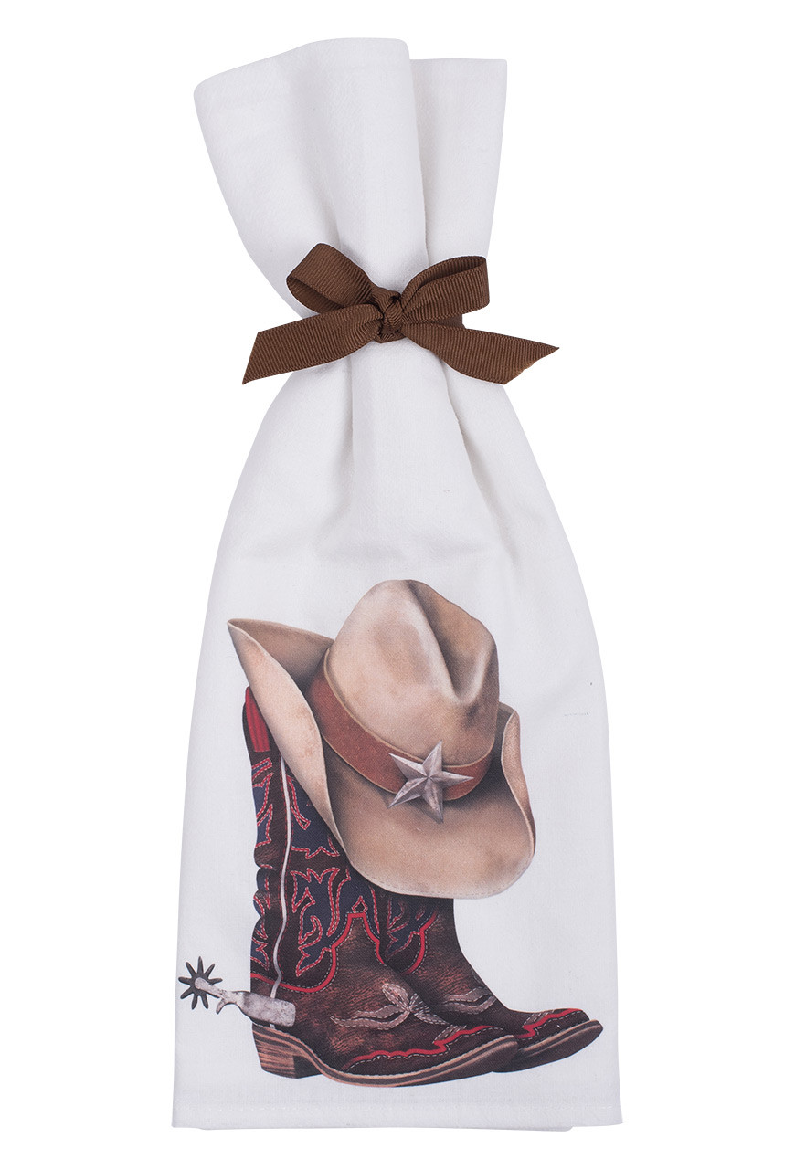 Cowboy Boot And Hat Flour Sack Towels Pinto Ranch