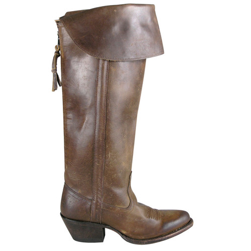 Tall Calf Boot with Collar - Side