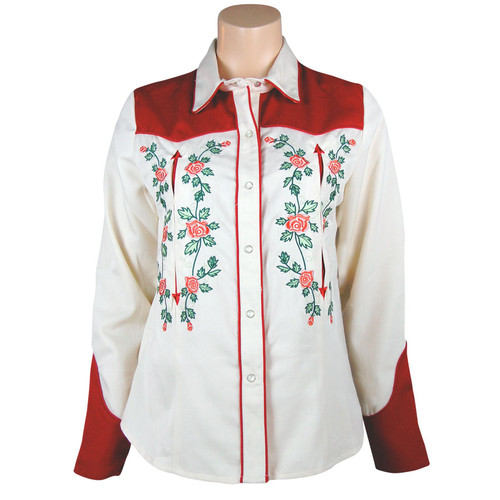 """""""Red Roses"""" Vintage Western Shirt by Scully"""
