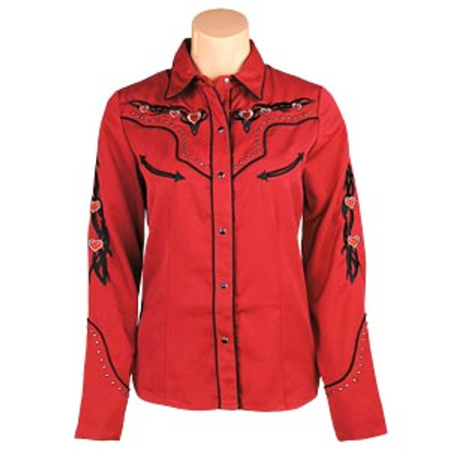 """Red Heart"" Western Snap Shirt"