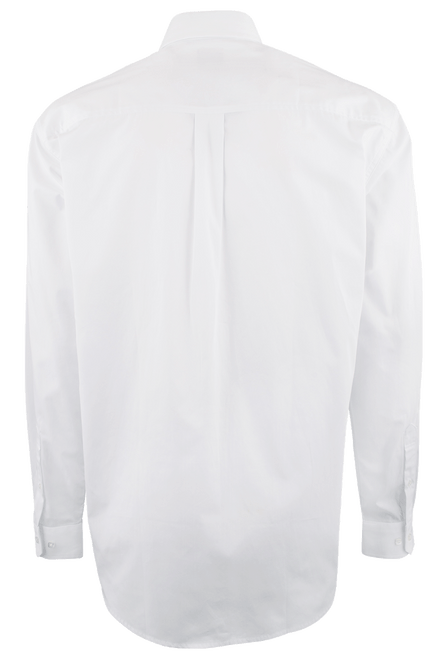 Cinch White Solid Button-Down Shirt - Back