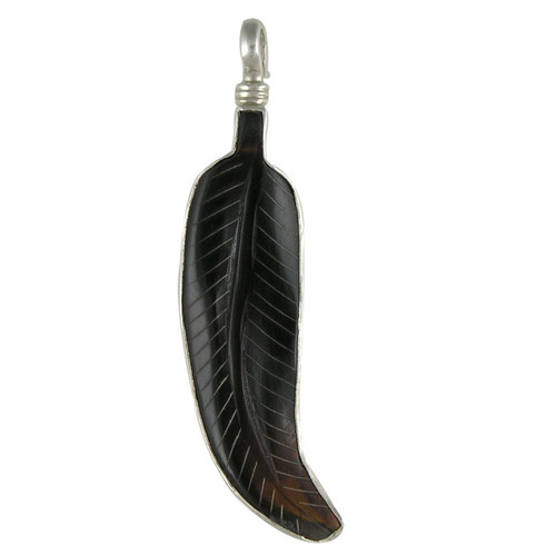 Charm - Brown Feather Charm