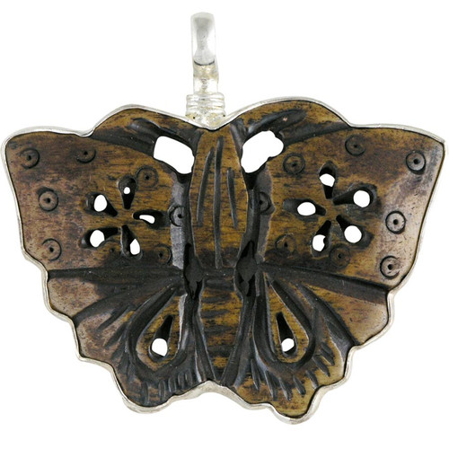 Charm - Carved Butterfly Charm