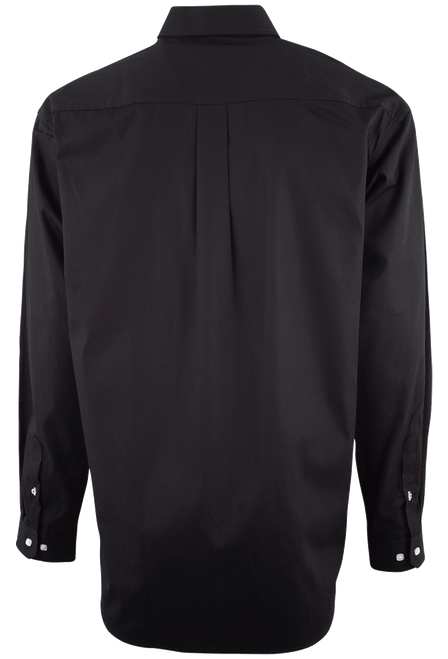 Cinch Black Solid Button-Down Shirt - Back