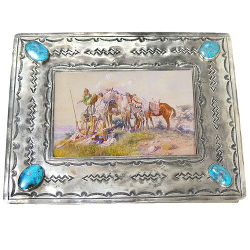 Frame - 4x6 Stamped Silver - Top