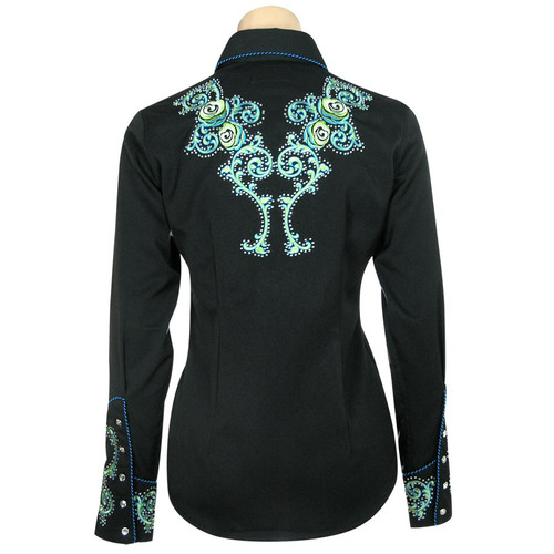 """""""Fancy"""" Embroidered Western  Snap Shirt"""