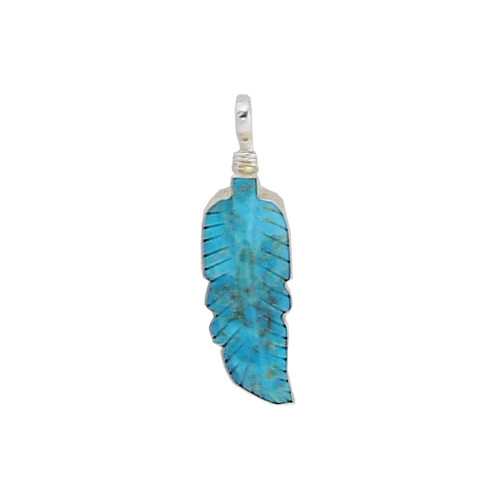 Charm - Turquoise Feather Charm