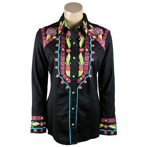 """""""Lime Floral"""" Western Shirt"""