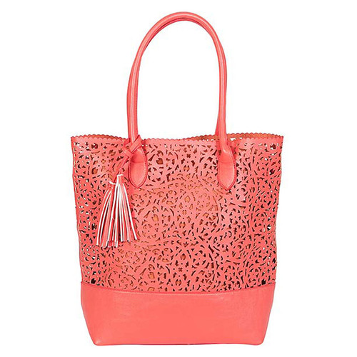 Buco - North South Scroll Tote - Coral