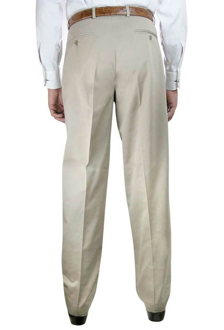Pinto Ranch Basic Pleated Cotton Pants - Back