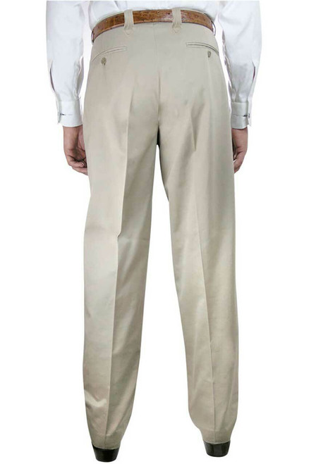 Pinto Ranch Western Pleated Cotton Pants - Back