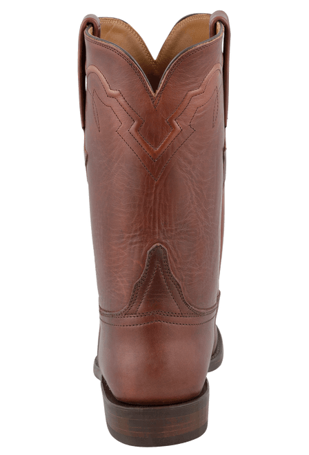 Lucchese Men's Chocolate Oiled Ranch Hand Roper Boots - Back