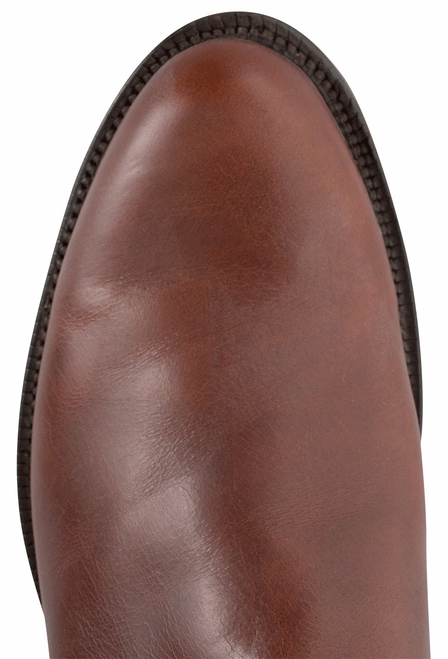 Lucchese Men's Chocolate Oiled Ranch Hand Roper Boots - Toe