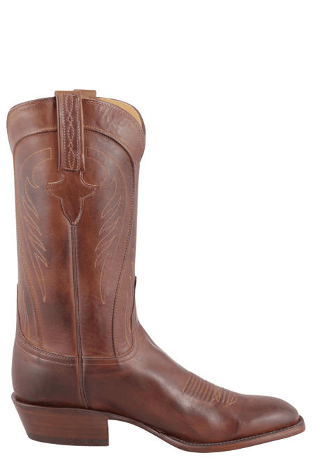 Lucchese Men's Tan Burnished Ranch Hand Boots - Side