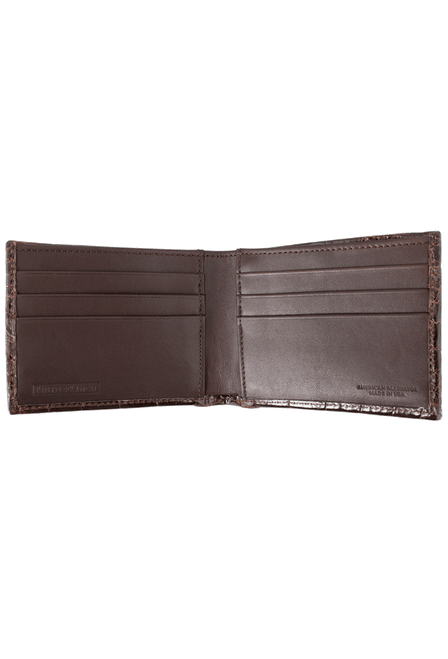 Alligator Classic Wallet - Brown - Inside