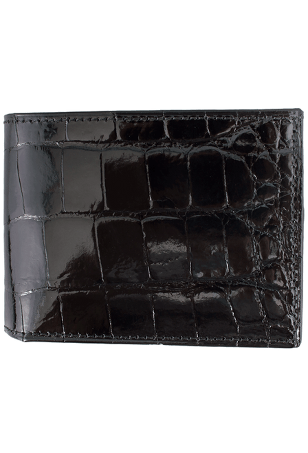 Alligator Classic Wallet - Black - Front