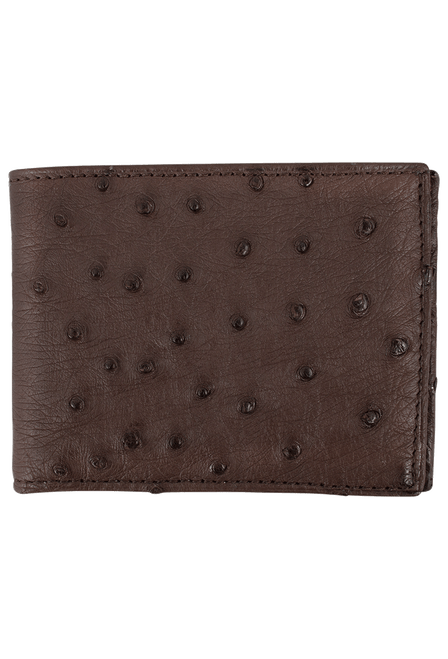 Ostrich Classic Wallet - Brown - Front
