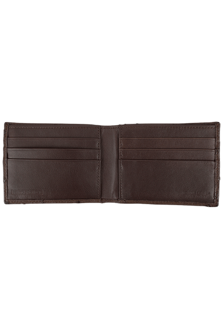 Ostrich Classic Wallet - Brown - Inside