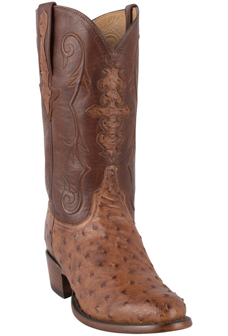 Lucchese Men's Barnwood Full-Quill Ostrich Boots - Hero