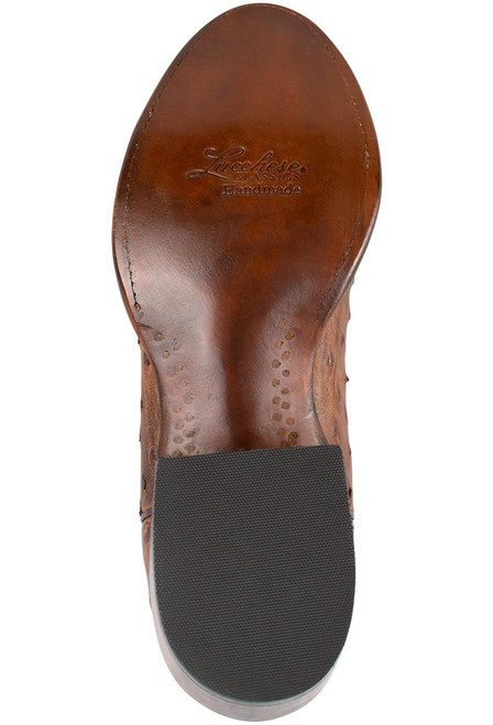 Classic Men's Lucchese Ostrich Boots in Barnwood