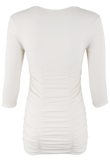 Last Tango Ruched Top - Ivory - Back