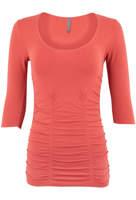 Last Tango Ruched Top - Copper - Front