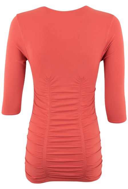 Last Tango Ruched Top - Copper - Back