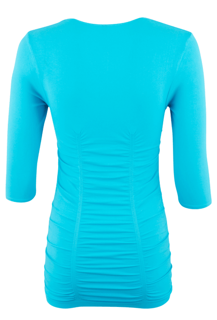 Last Tango Ruched Top - Turquoise - Back