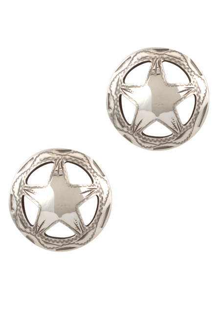 Pinto Ranch Dime Star Engraved Cufflinks - Front