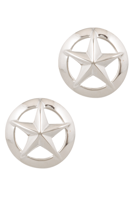 Pinto Ranch 3D Dome Star Cufflinks - Front