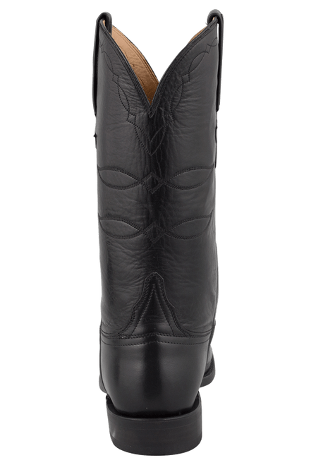 Lucchese Men's Black Baby Buffalo Roper Boots - Back