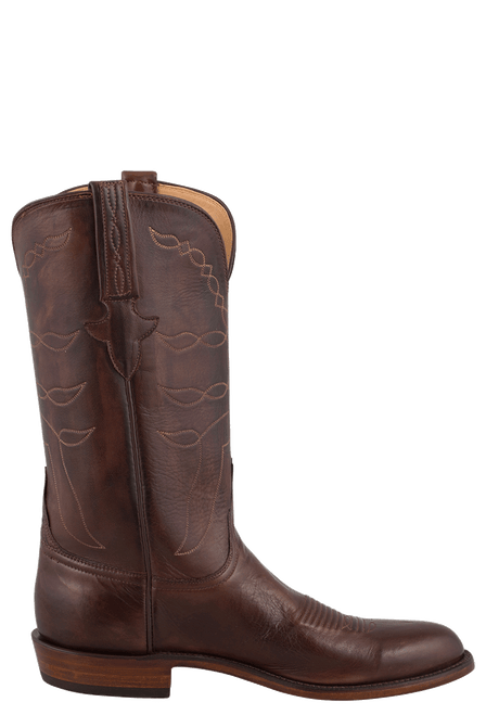 Lucchese Men's Whiskey Baby Buffalo Roper Boots - Side