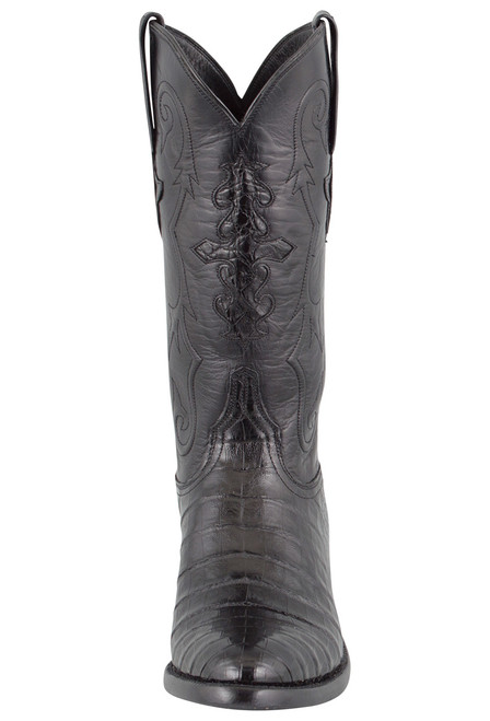 Lucchese Men's Black Ultra Caiman Crocodile Boots - Front