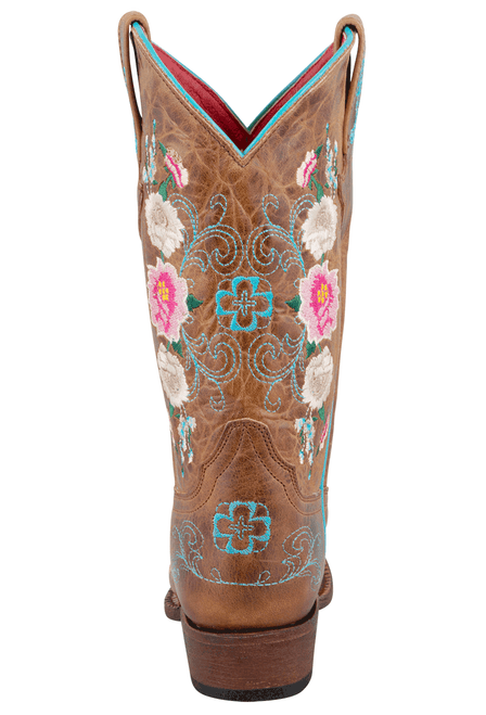 Macie Bean Kids Honey Bunch Embroidered Boots - Back