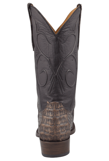 Benchmark by Old Gringo Men's Black and Tan Hornback Caiman Tail Red River Boots - Back