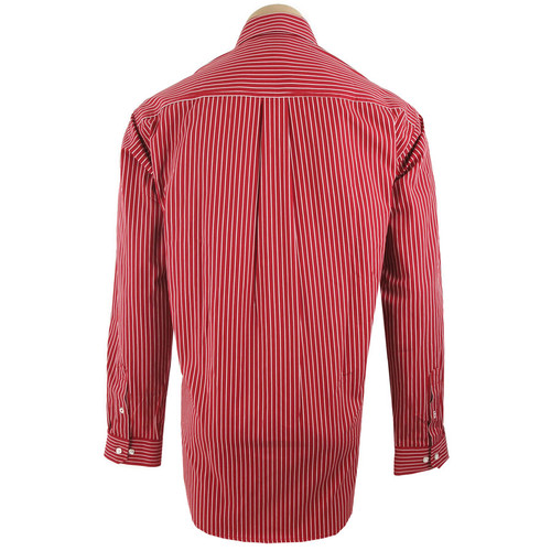 Cinch - Long Sleeve Shirt - Red with White Stripe